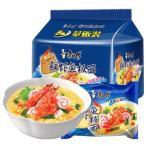 康師傅 鮮蝦魚板面 中華インスタントラーメン 焼き牛肉入り 5食セット 海鮮面