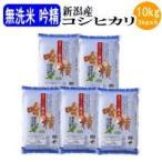 お米 白米 無洗米吟精 新潟産コシヒカリ10kg(2kgx5袋)(令和1年産新米)