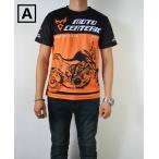 バイクTシャツ 夏 バイク インナーウエア 半袖ティーシャツメンズ バイク用品 アンダーウエア カジュアルTシャツ オレンジ色