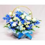 バラ ギフト ばら 花 ホワイト ブルー アレンジ 白バラとデルフィニウム 誕生日の花 翌日配達 ギフト プレゼント 歓送迎 送別 退職 贈り物 卒業
