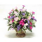 お見舞い 花  薔薇 バラ  ピンクの小花のアレンジ ギフト プレゼント 歓送迎 送別 退職 贈り物 卒業