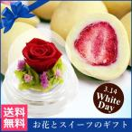 ホワイトデー特集 プリザーブドフラワー 誕生日 バラと苺のあま〜いお話 送料無料  スイーツ