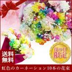 まだ間に合う! 母の日 2021 花 花束 レインボーカーネーションの花束10本 ギフト 送料無料