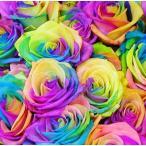 花束 虹色のバラ ギフト レインボーローズミラクル20本の花束 ホワイトデー ギフト プレゼント 歓送迎 送別 退職 贈り物 卒業