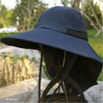 遮陽帽 - 帽子 つば広ハット メンズ UVカット サンバイザー 紫外線対策用 調節可能 折畳み可 農作業 2タイプ 釣り 登山 アウトドア 通気性 日よけ 春夏 新作