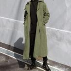 トレンチコート メンズ ロッグ丈コート チェスターコート ビジネスコート ステンカラーコート ダブルボタン カジュアル おしゃれ 秋物 秋新作