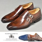 ドレスシューズ メンズ 革靴 本革 靴 紳士靴 モンクストラップ イタリア靴