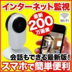 ペットモニター 見守りカメラ 200万画素 無線 Wi-Fi IP 屋内 ネットワークカメラ 暗視 人感センサー 双方向音声通信 ACIP17  送料無料