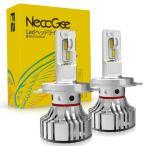LEDヘッドライト H4 Hi/Lo 新車検対応 切替タイプ CREE light source technology CHIP搭載 一体式 36W 6000Lm 6500K ホワイト DC9-32V 2個セット  NECC-F2-H4