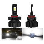 LEDヘッドライト H4 Hi/Lo 車検対応 切替タイプ CREE technology CHIP搭載 一体式 55W 6000Lm 6500K ホワイト DC9-32V 2個セット 保証1年   NECC-M2-H4