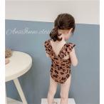 子供 水着 送料無料 キッズ ベビー スイムウェア 韓国子供服 レオパード 即納 90 100 110 120 130cm