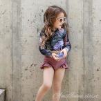 子供 水着 送料無料 女の子 ビキニ  セパレート スイムキャップ セット ラッシュガード キッズ 韓国子供服