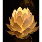 送料無料  デザイン照明  Origami-lite 蓮花S  オリガミライト 照明 照明器具 おしゃれ リビング インテリア 置き型 蓮 盆提灯 フロアライト