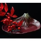 水盤 さかさ富士 赤富士 日本製 フラワーアレンジメント お花 生け花 フラワーベース 花瓶 富士山 花器 逆さ富士