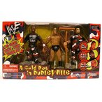 WWE フィギュア プロレス 正規輸入品 Jakks Pacific WWF A Cold Day in Dudleyville The Rock, D-Von Dudley, Buh Buh Ray Dudley Figures
