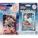 MLB  ヤンキース カード 輸入品 New York Yankees 2016 and 2015 Factory Sealed Team Set Gift Lot with 34 Exclusive Cards That Are Not Found in Packs