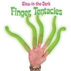 (メール便対応可) アクータメンツ グローインザダーク フィンガーオクトパス 1本 触手 たこ タコ おしゃれ かわいい 光る 蛸 指人形 フィンガー