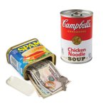 セーフティーカン キャンベル / スパム 貴重品入れ セーフティーボックス キャンベル缶 SPAM 貴重品ケース ボックス キャンベルスープ 小物入れ ホワイトデー