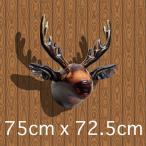 ビニールムースヘッド ムース 鹿 シカ 剥製 はく製 ヘラジカ 飾り デコレーション 頭 動物 ウォールアート ウォールデコレーション 壁掛け バレンタイン
