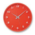 nine clock レッド 電波時計 LC08-14W RE
