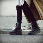 靴 ブーツ 厚底ブーツ レディース プラットフォーム 本革厚底ブーツ・12月15日0時〜再再販。メール便不可