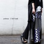 Yahoo限定 ボトム オリジナル 水玉 ドット切替え変形スカート・##メール便不可