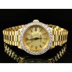 オーデマピゲ  腕時計 Pre-Owned Ladies 27 MM Rolex President Day-Date 18k Yellow Gold Diamond Watch