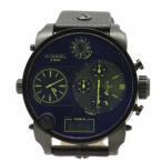 アラン・シルベスタイン 腕時計 Diesel Men's DZ7127 Chronograph Black Leather Watch