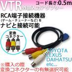 VTR アダプター 外部入力 配線 イクリプス ECLIPSE  AVN3302D AVN7701D AVN5501D AVN5501DV 対応 オス端子 メス端子選択可 0.5m 汎用 RCA