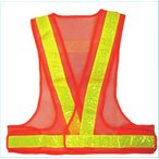 安全ベスト 夏用サマーベスト オレンジメッシュ/黄反射 SV50-OL 大きな網目+穴あき反射テープ