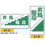 安全まんが標識 昇降階段 足場用注意標識 600×300