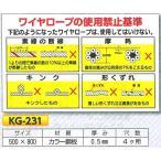 ワイヤーロープの使用禁止基準 KG-231