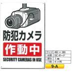 防犯カメラ作動中標識