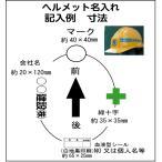 ヘルメットオプション選択  名入れ加工 @400-