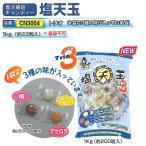 塩飴 熱中症対策用飴 選べる3つの味 塩分補給キャンディー 塩天玉 1kg(約200粒入り)5袋セット CN3004