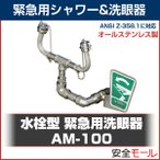 ANZEN MALL 水栓型 緊急用洗眼器 AM-100 シンク取り付け可能な廉価版オールステンレスタイプ