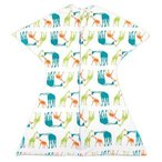 Sleeping Baby スリーピングスター おくるみ カバーオール ベビー服 睡眠が2時間延びる安眠パジャマ 星形デザイン (キリン, L)