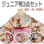 小学生卒業式 ジュニア袴三点セット -81-(着物/刺繍袴/長襦袢)はかま 振袖 小学生 女
