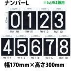 強力溶着式ロードマーキング ナンバー L 白