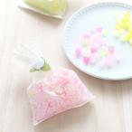 プチギフト 金平糖寿 純白のロイヤルレース袋仕立て ピンクのさくら草金平糖50g (結婚式  先生へのお礼に最適) 京都 金平糖専門店 青木光悦堂