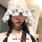 バケットハットレース刺繍韓国オルチャンストリートK-POP