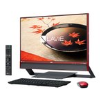 新品同様 NEC LAVIE Desk All-in-one DA770/FAR PC-DA770FAR [クランベリーレッド]