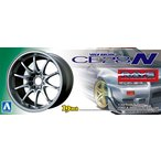 [処分特価3月26日まで]ボルクレーシング CE28N (チタニウムシルバー) 1/24 Sパーツタイヤ&ホイールセット No.129 #プラモデル
