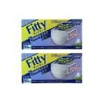 フィッティ 7DAYS マスク EX やや大きめ ホワイト 60枚入 2個セット