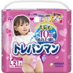 トレパンマン 女の子用 Lサイズ 9〜14kg 21枚 【ユニチャーム】(紙おむつ)
