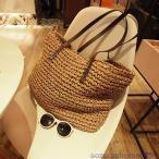 ショルダーバッグ レディース 草編みバッグ かばん 麦わら 鞄 かごバッグ 女性 肩掛け トートバッグ 手提げ オシャレショルダーバッグ 韓国風