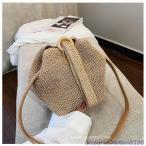 サークルかごバッグ レディース かごバッグ 麦わら カバン 鞄 編みバッグ パーチャスバッグ ストローバッグ かごバッグ ショルダー