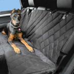 AL ペット用品 カー 犬 キャリア バッグ シートクッションリアベンチ 背面 カバー マット 防水滑り止め 折りたたみ ブラック AL-AA-2683