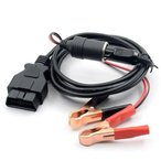 AL 車用ケーブル OBD2 車両 ECU エマージェンシー電源ケーブル メモリセーバー 3メートル ワニ口クリップ電源ソケット clip sockt/turn EC5 AL-AA-7778