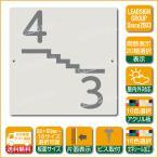 階数表示板 左回り階段 踊り場 アクリル サイン プレート カッティング シート 切文字貼り 階数 表示 f1 デザイン ビス穴有り 安全標識 看板 DIY 建築 建設